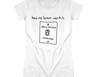 How My Brain Works Funny Lightswitch Graphic T Shirt