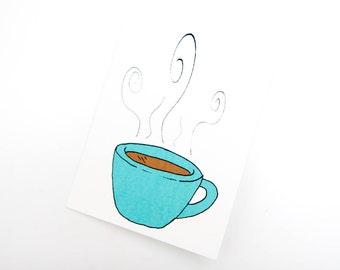 Handmade Coffee Cup Card