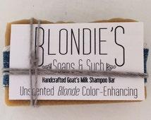 Blonde Color-enhancing Goat's Milk Solid Shampoo Bar - Large