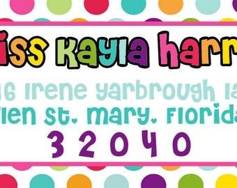 Colorful Address Labels | Set of 81