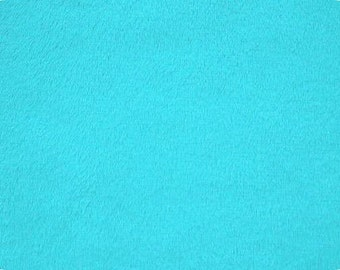 Minky - turquoise  - sold in 1 yard increments