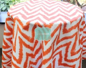 Tablecloth - Premier Prints - DIVA - Tangelo Orange - Choose Your Size - Table Linen Wedding Home Decor Dining Kitchen