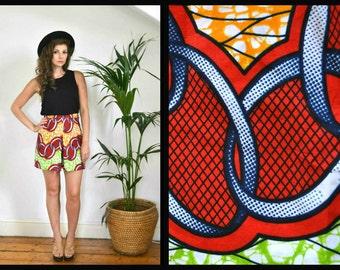 African Print Bold Colourful Culottes Small/Medium