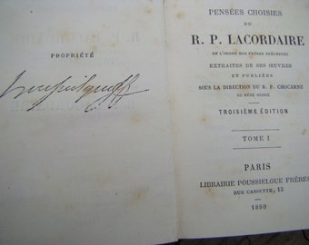 Selected thoughts of a. P. Lacordaire, 1880