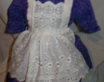 Bitty Baby dress with eyelet apron