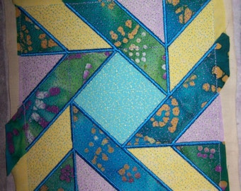 """Machine Embroidery In the Hoop """"Scatter Brained"""" Quilt Block Design"""