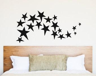 "Swirling Stars Vinyl Wall Decal - 47"" Wide"