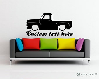 Large Custom personalized text -  Low Ford 1953 F100 wall decor vinyl sticker