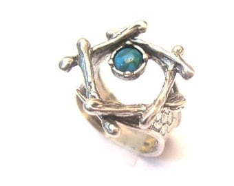 The Sterling Silver Ring with Turquoise