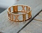 Tiffani Roman Letter Bangle