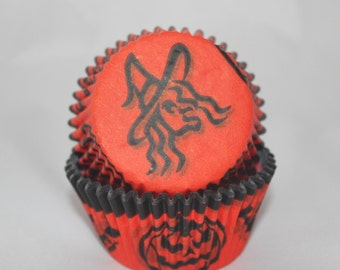 Orange Halloween Baking Cups