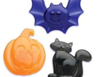 Halloween Bat, Pumpkin, And Cat Cupcake Rings
