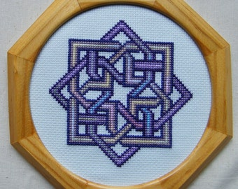 Celtic Squared Knot Design Cross Stitch chart using Anchor and Fils a Soso hand dyed threads