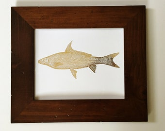 Fish - Gold Foil Print - Gallery Wall