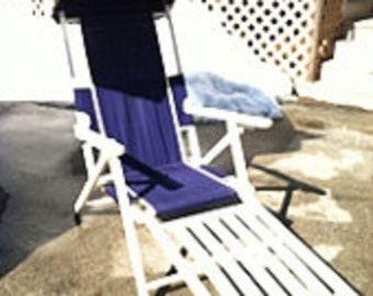 Deck Patio Chairs Purple And White Vintage Steamer Deck Chairs With Canopy  And Foot Rests TeleScope