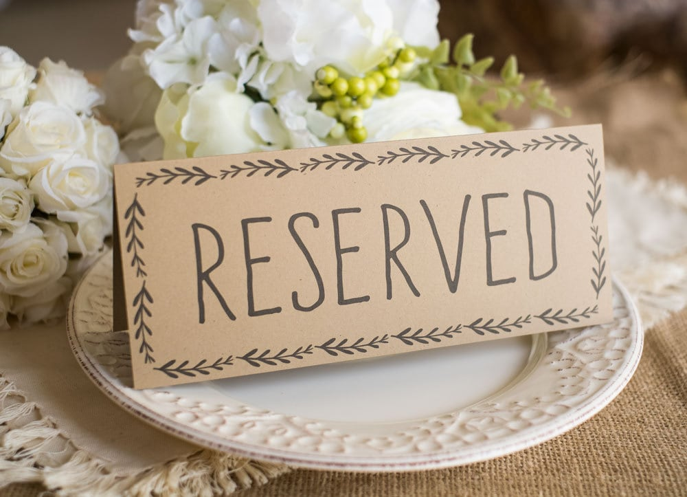 Rustic Wedding Reserved Table Sign Instant DOWNLOAD