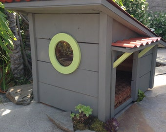 Designer Dog Houses, Pet house, Cats, Turtles, Dogs, Pet Meditation lodge, Garden Art, Hillside Contemporary