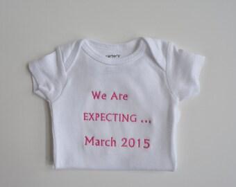 Pregnancy Announcement bodysuit, Pregnant, onepiece, Announcement, Pregnancy Announcement