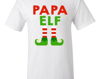 Mama Elf Christmas T-shirt Tshirt Tee Shirt Gift Xmas Holiday