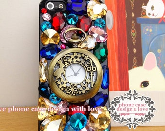 Studded iPhone SE iPhone 5 / 5s Case Studded Bling iPhone 5 / 5s Case Bling Phone Case Color Oversize Rhinestone