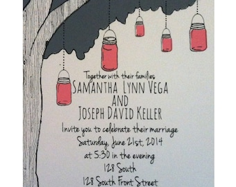 Love Bird Wedding Invite