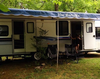 Camper, Trailer and RV awning customization, Mark your Homestead and stand out.