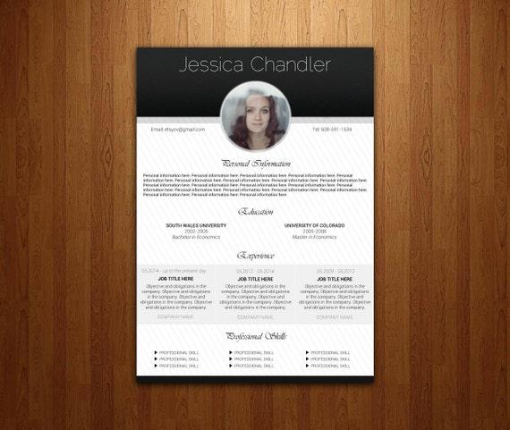 Resume Template | CV Template for Word | Professional Resume Design | Modern Resume | Instant download