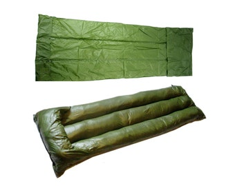 1960s army waterproof tent mat - stuffable survival mattress - australian - great for camping & bushcraft