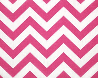SALE OOP Candy Pink Chevron Zig Zag Zigzag Home Decor Fabric by Premier Prints