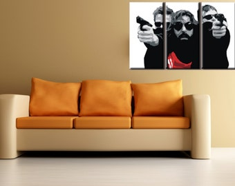 Boondock Saints Hand Painted Canvas Acrylic Pop Art Oil Painting LARGE FRAMED Gallery Wrapped Wall Art