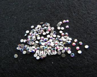 Swarovski Rhinestones for Nail ss3 Crystal AB 1.4 mm Flatback Rhinestones Nail Art [144 pcs]