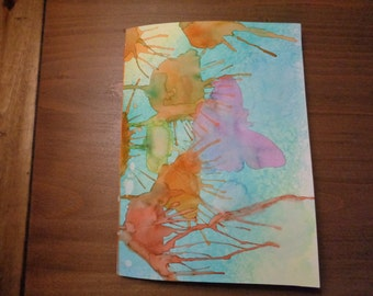 """7.5"""" x 10.0""""  blank art journal filled with 20 pages of 140# watercolor paper"""