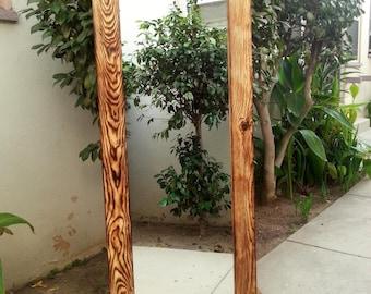 Handmade Wood Mirror 157 x 67cm