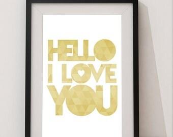hello y love you: