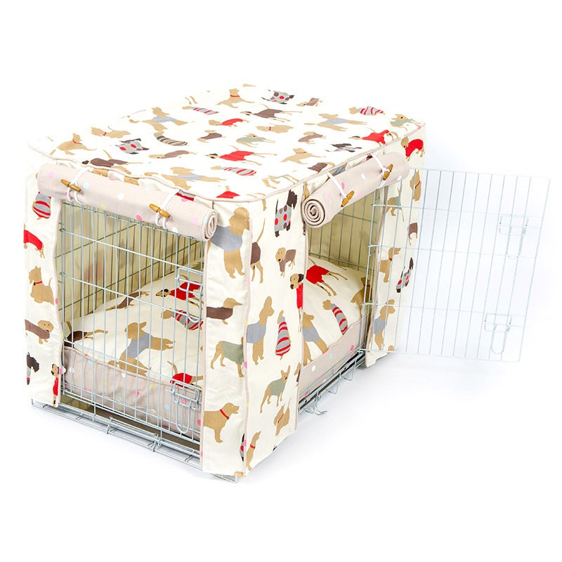 Dog Crate Cover and Cushion Set in by LordsandLabradors on