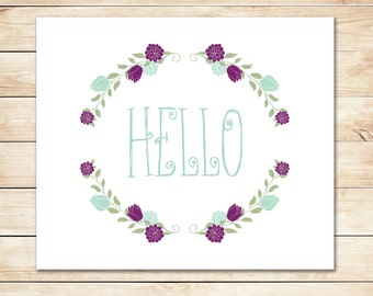 Printable Hello Card - Instant Download Card - DIY Hello