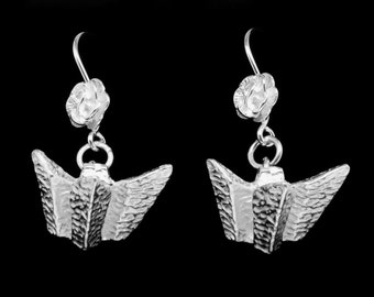 Titanic Silver Drop Earrings