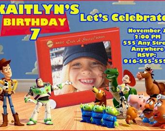 Toy Story Photo Birthday Invitation