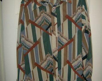 Huck A Poo Disco Shirt  Geometric pattern