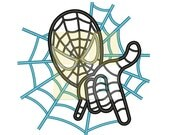 spider man and hand Applique Design for Embroidery Machines 5x7 - Instant Download