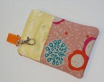 Modern Japanese Peacocks Padded iPod / iPhone / Camera Case --- Etsuko Furuya Designer Fabric (Peach)