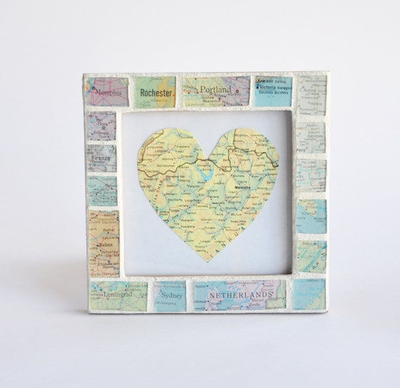 Map Art Wedding Gift : ... Gifts Guest Books Portraits & Frames Wedding Favors All Gifts