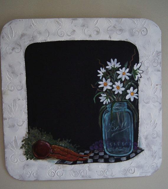 Mason Jar Chalkboard Decorative Shabby Kitchen Chalkboard