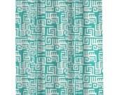 Bathroom shower Curtains Custom    Modern Turquoise Shower Curtain (108)  Long Shower Curtain