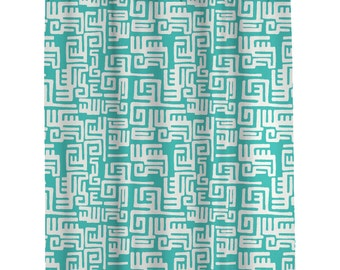 Bathroom shower Curtains Custom    Modern Turquoise Shower Curtain (108)  Long Shower Curtain