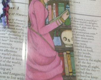 Victorian girl bookmark