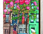 Spring in the City Coaster by PJ Cobbs New York Neighborhoods
