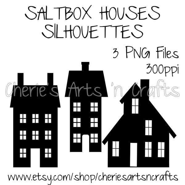Saltbox Houses Silhouettes Silhouettes Silhouette Clipart