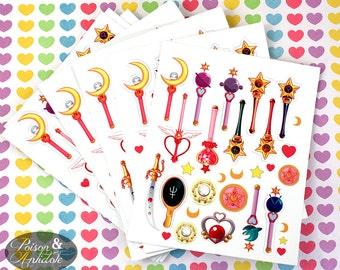 Sailor Moon Mini Sticker Sheet! 27 Die cut stickers