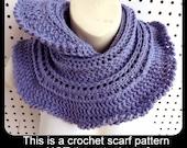 Crochet Pattern, Crochet Scarf Pattern, Crochet Infinity Scarf Pattern, Crochet Cowl Pattern, MINIRUFFLE Crochet Pattern